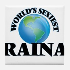 World's Sexiest Raina Tile Coaster