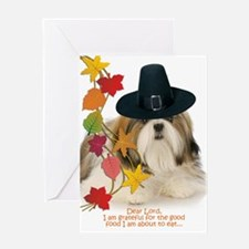 Funny Shih Tzu Thanksgiving Greeting Cards