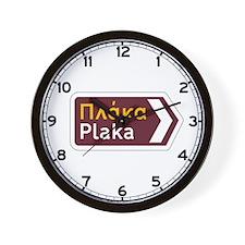 Plaka, Greece Wall Clock
