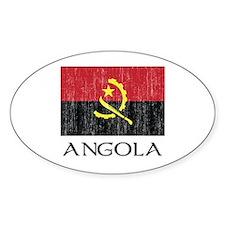 Angola Flag Oval Decal