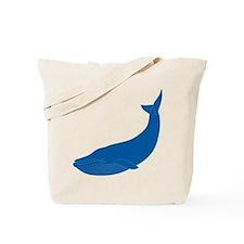 Graceful Blue Whale / Orca Tote Bag