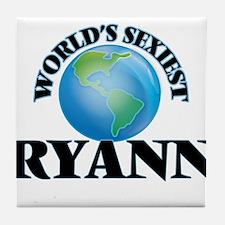 World's Sexiest Ryann Tile Coaster