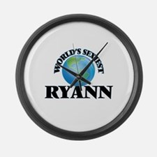 World's Sexiest Ryann Large Wall Clock