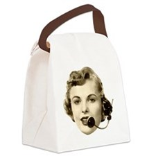 Retro Telephone Operator Canvas Lunch Bag