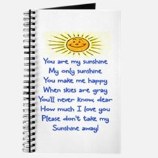 YOU ARE MY SUNSHINE Journal