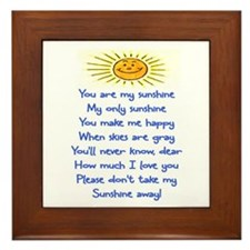 YOU ARE MY SUNSHINE Framed Tile