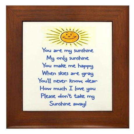 YOU ARE MY SUNSHINE Framed Tile