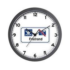 Nudist Beach (1), Norway Wall Clock
