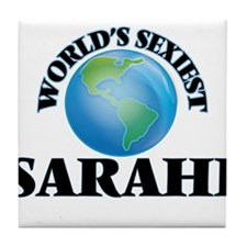 World's Sexiest Sarahi Tile Coaster