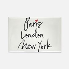 Paris, London, New York Magnets