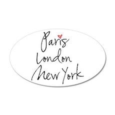 Paris, London, New York Wall Decal