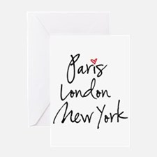 Paris, London, New York Greeting Cards
