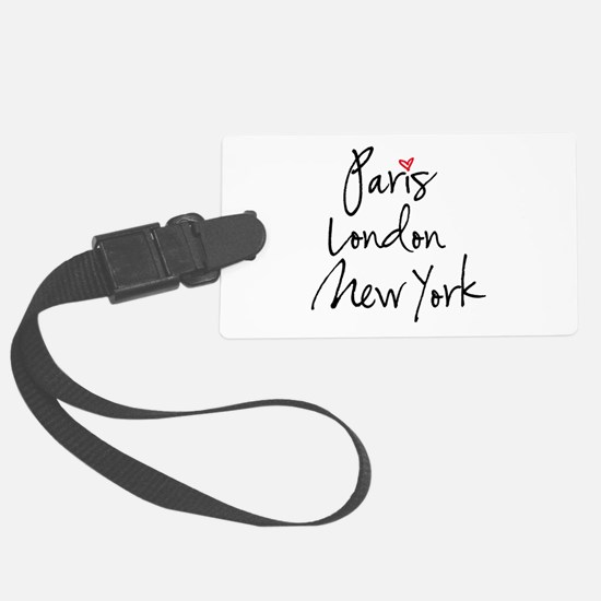 Paris, London, New York Luggage Tag