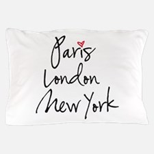 Paris, London, New York Pillow Case