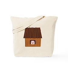 Stick House Pig Tote Bag