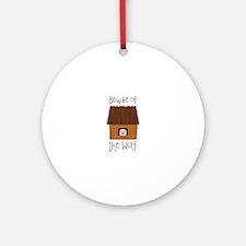Beware Of Wolf Ornament (Round)