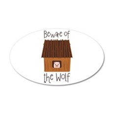 Beware Of Wolf Wall Decal