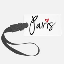 Paris with red heart Luggage Tag