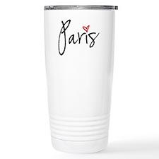 Paris with red heart Travel Mug