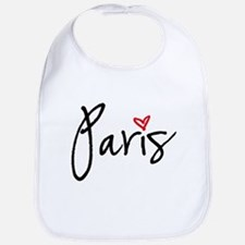 Paris with red heart Bib