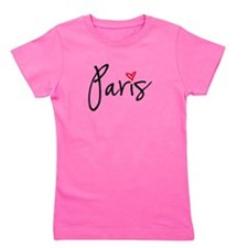 Paris with red heart Girl's Tee