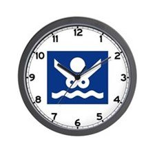 Nudist Beach (2), Norway Wall Clock