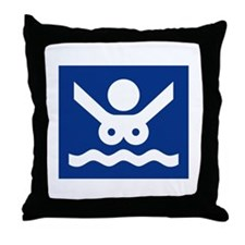 Nudist Beach (2), Norway Throw Pillow
