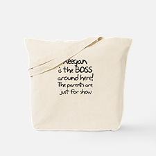 Keegan is the Boss Tote Bag