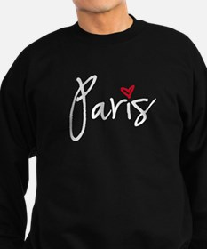 Paris white text Sweatshirt
