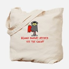 Blood Donors Count Funny Halloween Tote Bag