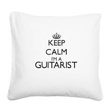 Keep calm I'm a Guitarist Square Canvas Pillow