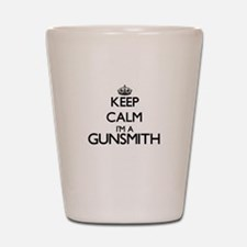 Keep calm I'm a Gunsmith Shot Glass