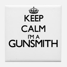 Keep calm I'm a Gunsmith Tile Coaster