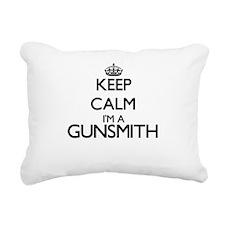 Keep calm I'm a Gunsmith Rectangular Canvas Pillow