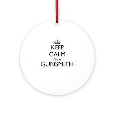 Keep calm I'm a Gunsmith Ornament (Round)