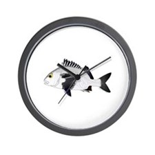Black Margate fish Wall Clock