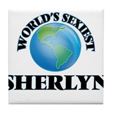 World's Sexiest Sherlyn Tile Coaster