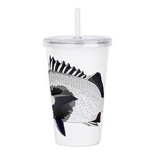 Black Margate fish Acrylic Double-wall Tumbler
