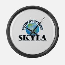 World's Sexiest Skyla Large Wall Clock