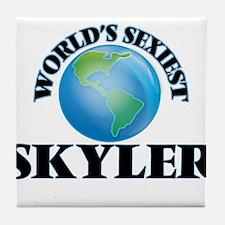 World's Sexiest Skyler Tile Coaster