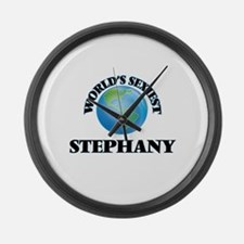 World's Sexiest Stephany Large Wall Clock