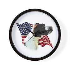 Pointer (Liver) Flag Wall Clock
