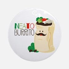 Neato Burrito Ornament (Round)