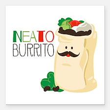 """Neato Burrito Square Car Magnet 3"""" x 3"""""""