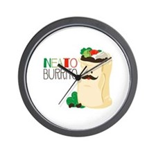 Neato Burrito Wall Clock