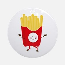 Happy Fries Ornament (Round)