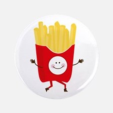 """Happy Fries 3.5"""" Button"""