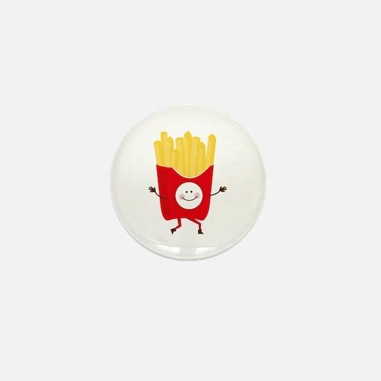 Happy Fries Mini Button