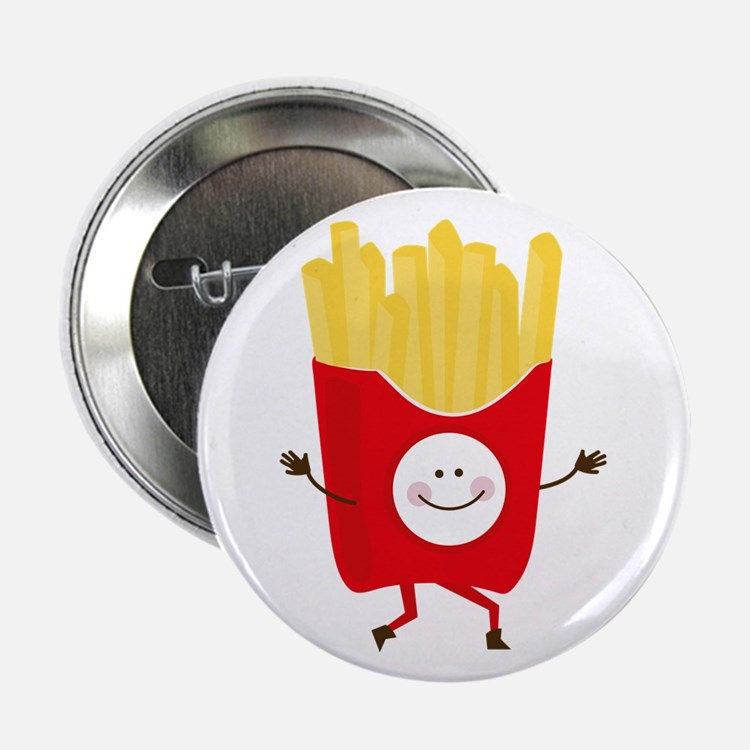 """Happy Fries 2.25"""" Button (10 pack)"""