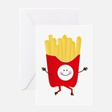 Happy Fries Greeting Cards